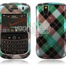 Blue Argyle Design Hard Case for BlackBerry Tour 9600/9630