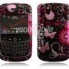 Pink/Black Design Hard Case for BlackBerry Tour 9600/9630