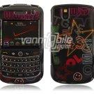 Black Text Design (#1) Hard Case for BlackBerry Tour 9600/9630