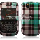 Blue Plaid Design Hard Case for BlackBerry Tour 9600/9630