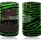 Green/Black Zebra Design Hard Case for BlackBerry Tour 9600/9630