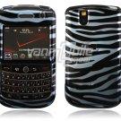 Blue/Black Zebra Design Hard Case for BlackBerry Tour 9600/9630