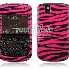 Hot Pink/Black Zebra Design Hard Case for BlackBerry Tour 9600/9630