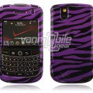 Purple/Black Zebra Design Hard Case for BlackBerry Tour 9600/9630