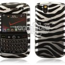 Silver/Black Zebra Stripes Design Hard Case for BlackBerry Tour 9600/9630