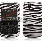 White/Black Zebra Stripes Design Hard Case for BlackBerry Tour 9600/9630