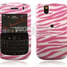 White/Pink Zebra Stripes Design Hard Case for BlackBerry Tour 9600/9630