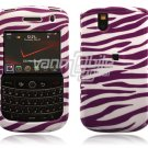 White/Purple Zebra Stripes Design Hard Case for BlackBerry Tour 9600/9630