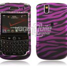 Black/Pink Zebra with Blings Design Hard Case for BlackBerry Tour 9600/9630