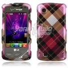 Pink Argyle Design Hard Case for LG Chocolate Touch VX8575