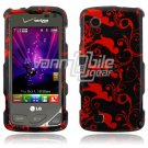 Black/Red Design Hard Case for LG Chocolate Touch VX8575