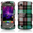 Blue Plaid Design Hard Case for LG Chocolate Touch VX8575