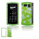 Green/White Skulls Design Hard 2-Pc Snap On Faceplate Case for Sanyo Incognito 6760 (Sprint)