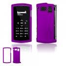 "Purple Hard ""Rubber Feel"" 2-Pc Faceplate Case for Sanyo Incognito 6760 (Sprint)"