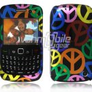 Peace Design Hard 2-Pc Snap On Plastic Faceplate Case for BlackBerry Curve 8520/8530