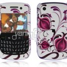 Rose Pink Flower Design Hard 2-Pc Snap On Plastic Faceplate Case for BlackBerry Curve 8520/8530