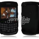 "Black Hard ""Glossy/Shiny Smooth"" 2-Pc Faceplate Case for BlackBerry Curve 8520/8530"