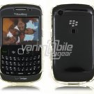 """Clear Hard """"Glossy/Shiny Smooth"""" 2-Pc Faceplate Case for BlackBerry Curve 8520/8530"""
