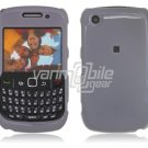 "Grey Hard ""Glossy/Shiny Smooth"" 2-Pc Faceplate Case for BlackBerry Curve 8520/8530"