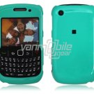"Turquoise Hard ""Glossy/Shiny Smooth"" 2-Pc Faceplate Case for BlackBerry Curve 8520/8530"
