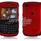 "Red Hard ""Glossy/Shiny Smooth"" 2-Pc Faceplate Case for BlackBerry Curve 8520/8530"