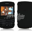 "Black Hard ""Rubber Feel"" 2-Pc Faceplate Case for BlackBerry Curve 8520/8530"