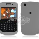 """Grey Hard """"Rubber Feel"""" 2-Pc Faceplate Case for BlackBerry Curve 8520/8530"""
