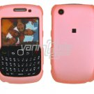 "Baby Pink Hard ""Rubber Feel"" 2-Pc Faceplate Case for BlackBerry Curve 8520/8530"