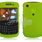 """Neon Green Hard """"Rubber Feel"""" 2-Pc Faceplate Case for BlackBerry Curve 8520/8530"""