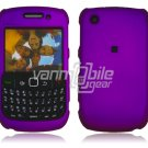 "Purple Hard ""Rubber Feel"" 2-Pc Faceplate Case for BlackBerry Curve 8520/8530"
