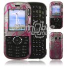 Pink Squiggle Design Hard 2-Pc Snap On Faceplate Case for LG Cosmos/LG Rumor 2 (Verizon/Sprint)