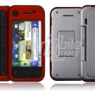Red 2-Pc Hard Snap On Case for Motorola BackFlip (AT&T)