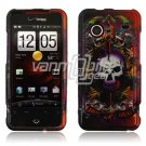Sword and Skull Design Hard 2-Pc Snap On Faceplate Case for HTC Droid Incredible (Verizon Wireless)