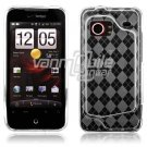 Clear Argyle Design 1-Pc Hard Rubber Case for HTC Droid Incredible (Verizon Wireless)