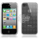 Clear Argyle Design Hard 1-Pc Rubber Case for Apple iPhone 4 (16GB/32GB)