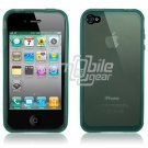 Blue Rubber Skin Case for Apple iPhone 4 (16GB/32GB)