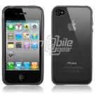 Black/Smoke Rubber Skin Case for Apple iPhone 4 (16GB/32GB)