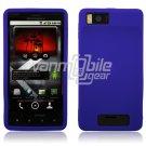 Blue Soft Silicone Skin Cover Case for Motorola Droid X (Verizon Wireless)