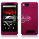 "Hot Pink ""Grip"" Soft Silicone Skin Cover Case for Motorola Droid X (Verizon Wireless)"