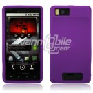 Purple Soft Silicone Skin Cover Case for Motorola Droid X (Verizon Wireless)