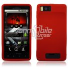 Red Soft Silicone Skin Cover Case for Motorola Droid X (Verizon Wireless)
