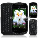 Black Diagonal Plaid Design Hard 2-Pc Snap On Faceplate Case for myTouch Slide (T-Mobile)