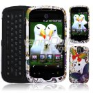 Colorful Butterflies Design Hard 2-Pc Snap On Faceplate Case for myTouch Slide (T-Mobile)