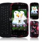 Pink/Black Bfly Design Hard 2-Pc Snap On Faceplate Case for myTouch Slide (T-Mobile)