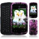 Purple/Black Design Hard 2-Pc Case for myTouch 3G Slide (T-Mobile)