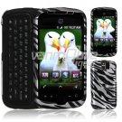 Silver/Black Zebra Stripes Design Hard 2-Pc Snap On Faceplate Case for myTouch Slide (T-Mobile)