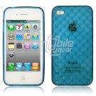 "Blue Hard 1-Pc ""Prism Design"" Rubber Gel Skin Case for Apple iPhone 4 (16GB/32GB)"