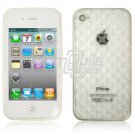 "Clear Hard 1-Pc ""Prism Design"" Rubber Gel Skin Case for Apple iPhone 4 (16GB/32GB)"
