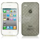 "Black Hard 1-Pc ""Prism Design"" Rubber Gel Skin Case for Apple iPhone 4 (16GB/32GB)"