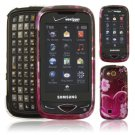 Pink Hearts Design Hard 2-Pc Case for Samsung Reality U820 (Verizon Wireless)